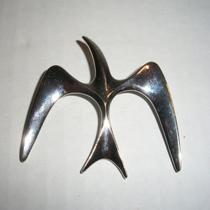 1970's Modernist Bird In Flight Brooch